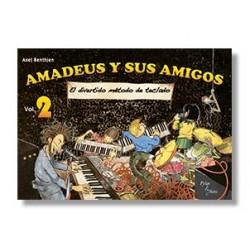 Amadeus y sus amigos – El divertido y sencillo método para Teclado y Piano (2 volúmenes)