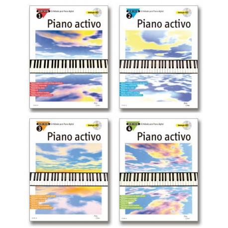 Piano Activo – El método para piano digital (Volumen 1 a 4)